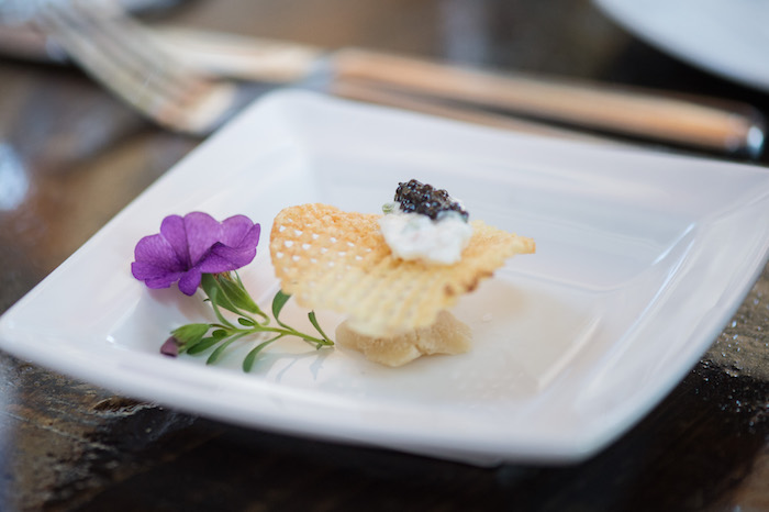 Gensac Caviar on Gaufrette Potato