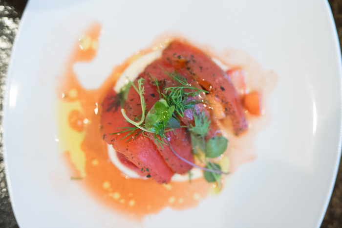 Strawberry Aigre-Doux with Wild Marinated Salmon2